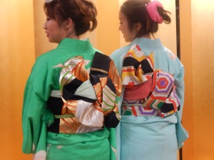 """Kimono tied with a decadent """"obi"""" or """"sash"""""""
